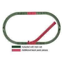 Lionel 6-12031 Fastrack Outer Passing Loop Add On Track Pack