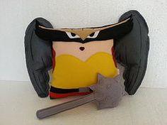 Handmade Hawkwoman with Mace Justice League Plush Pillow #marvel #dccomics $32.95 http://www.rbitencourtusa.com/#!product/prd1/2663364901/handmade-hawkwoman-with-mace-justice-league-pillow