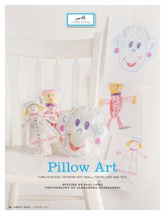 Pillow Art (turn your kid's artwork into pillows)