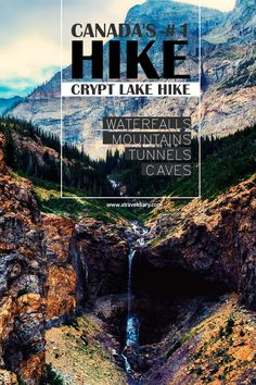 Crypt Lake Hike at Waterton, Alberta, Canada. Waterton National Park is the lesser known of Canada's National Park. However, it is insanely beautiful and host the country's most incredible hiking opportunity, Crypt Lake Trail, rated as  Canada's #1 hike by National Geographics. | Incredible hiking in Alberta | Less busy hiking in Canada | Best Hike in Canada | #Alberta #Canada #Hike #Adventure #AdventureAwaits #AdventureTime