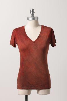 Zavella bamboo short sleeve in rust