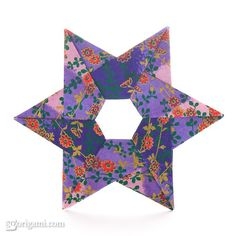 Hexa Origami Star by Francis Ow   Go Origami!