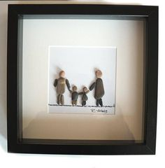 Picture of pebbles-Pebble art-family-family