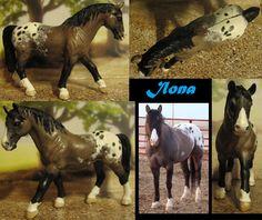 repainted schleich old lipizzaner mare