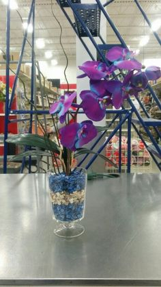 Blue and purple tropical - 3912