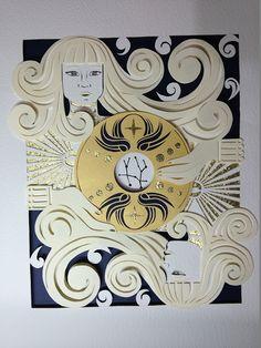 geminis on Behance - paper art/paper cut by Karen Murillo