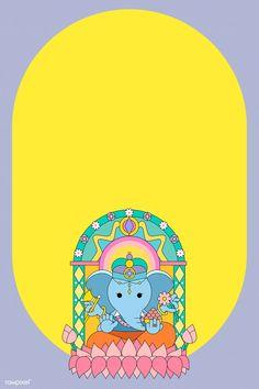 ganesh, indian and vinayaka Ganpati Invitation Card, Indian Wedding Invitation Cards, Indian Invitations, Diwali Vector, Diwali Wallpaper, Mobile Wallpaper, Wedding Card Design Indian, Pamphlet Design, Lord Ganesha Paintings