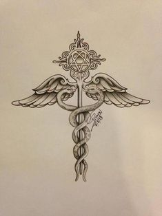 medical symbol with Heartagram.... oh @Dan Uyemura Scholler i think i found us a friendship tattoo!