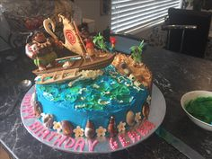 Moana cake made for granddaughters 6 th birthday ❤