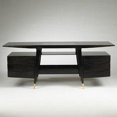 Gorgeous Gio Ponti desk. Italy, c,1950.