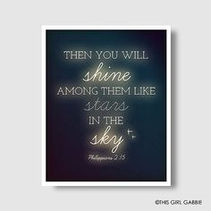 you will shine among them like stars in the sky - Google Search