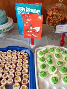 Green Eggs and Ham from Jack's Dr. Seuss themed 1st birthday party.
