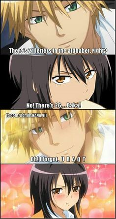 hahaha!! So cute! He would totally say this Usui! He was fun!<3 Kaichou wa Maid Sama