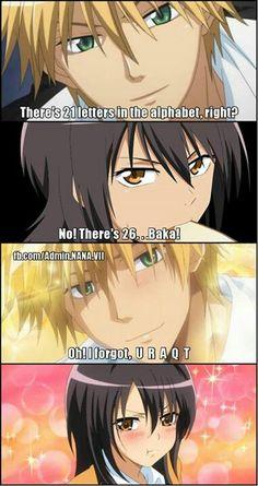 hahaha!! So cute! He would totally say this Usui! He was fun!<3 Kaichou wa Maid Sama