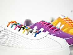 Hickies is a groundbreaking elastic lacing system that replaces shoelaces and turns any sneaker into a slip-on.