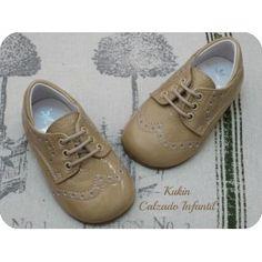 Zapatos niño - Calzado infantil -  Blucher charol camel Landos