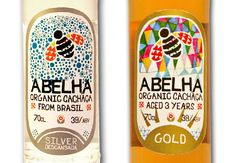 Abelha cachaca (which is like rum I'm told. Drink Labels, Bottle Labels, Branding Design, Logo Design, Graphic Design, Soap Packaging, Product Packaging, Limited Edition Packaging, Soap Boxes