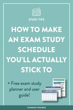 Want to create a perfect study schedule for final exams and actually stick to it? Read this and get a printable template and an exam study schedule planner!