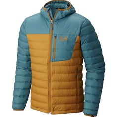 Mountain Hardwear Dynotherm Hooded Down Jacket (€100) ❤ liked on Polyvore featuring men's fashion, men's clothing, men's outerwear, men's jackets, mens light weight jackets, mens lightweight jacket, mens hooded jackets, mens hooded down jacket and mens water resistant jacket