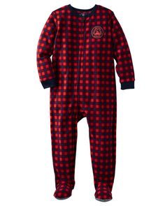 Baby Boy 1-Piece Buffalo Check Microfleece PJs from OshKosh B'gosh. Shop clothing & accessories from a trusted name in kids, toddlers, and baby clothes.