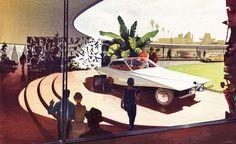 1957 Future Bugatti Illustration by Syd Mead