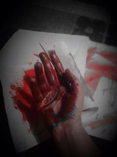 shadows under the colour... passion and violent... acrylics and pastes in my hand