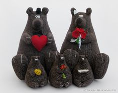 "love the felt eyes ""bear wedding"""