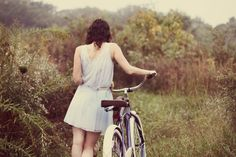 Bicycle Girl, My Photos, High Neck Dress, September, Photography, Inspiration, Beauty, Fashion, Veil