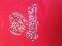 Rhinestone Shirts, Texas Rangers, Deep, Baseball, Heart, Sports, Hs Sports, Sport
