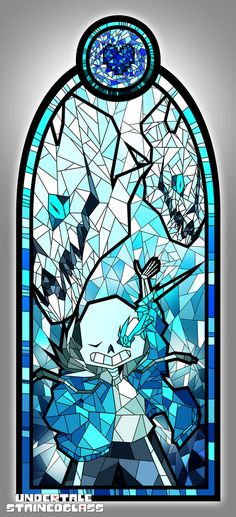 SANS - Undertale Stained Glass by Aelorz