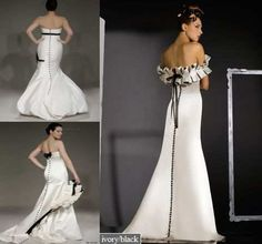 The best Black and White Wedding Dresses