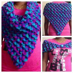Crocodile stitch Cowl.Shawl.Scarf crochet in Tamil.English