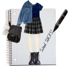 """""""School sucks!"""" by psycogirl ❤ liked on Polyvore"""