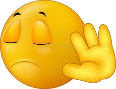 Illustration about Illustration of Talk to my hand gesture, smiley emoticon cartoon. Illustration of forbidden, avoid, business - 46948117 Emoticon Faces, Funny Emoji Faces, Silly Faces, Love Smiley, Emoji Love, Cute Emoji, Smiley Emoji, Images Emoji, Emoji Pictures