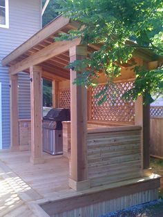 Shed DIY - Find out the best and awesome outdoor kitchen design plans, kits ideas for your dream home Now You Can Build ANY Shed In A Weekend Even If You've Zero Woodworking Experience! Backyard Projects, Backyard Patio, Backyard Landscaping, Diy Projects, Pergola Patio, Diy Patio, Outdoor Decking, Outdoor Bars, Backyard Privacy