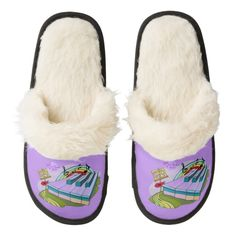Colorful Piano Keys Tan Fuzzy Slippers by #MoonDreamsMusic #FuzzySlippers #PianoKeys #ColorfulPiano