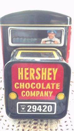 Items similar to Vintage Hershey Chocolate Company Truck Tin Container on Etsy Hershey Candy, Hershey Chocolate, Chocolate Company, Tin Containers, Cocoa, Lunch Box, Google, Tins, Snacks