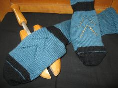 .. tried some patterns on sock...