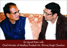 Dr Ujjwal patni with chief minister of madhya pradesh shivraj singh chouhan