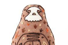 Sloth - Embroidery Kit by kirikipress on Etsy https://www.etsy.com/listing/150457599/sloth-embroidery-kit