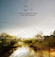 Alexander Daxböck: Changing its appearance depending on the angle of approach, this proposal for the meadows salford bridge competition by designers alexander daxböck and chris precht of penda features a strong elliptical shape. the project offers a dominant visual landmar…