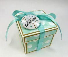 Weiteres - Explosionsbox mit Button Zur Einschulung - ein Designerstück von Stempelitis bei DaWanda