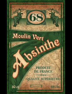 Moulin Vert is an original French Absinthe ✓Distilled with wormwood and premium wine alcohol ➔Learn more about this premium Absinthe Deviant Art, Vintage Images, Vintage Posters, Absinthe Fairy, Artemisia Absinthium, Psychoactive Drug, Green Fairy, Creepy Pictures, Old Recipes