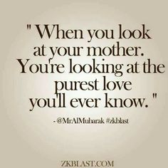 So true,  as on this mother's day I stand next to her bed in this ER after almost losing her today.  I love you mom!
