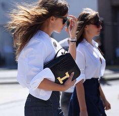 * w h i t e * | white shirt street style outfit fashion inspo |