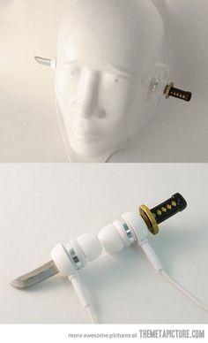 Ninja headphones… I FREAKING WANT THESE!!! @Lori Weeks @Camryn Weeks