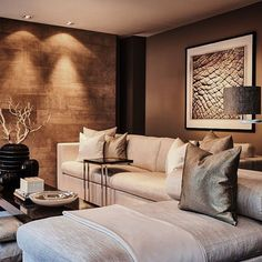 Living room ideas: Luxury living rooms that will make you fall in love in a second due to its unique luxury decor Original article an. Living Room Interior, Home Living Room, Living Room Designs, Living Room Decor, Apartment Interior, Living Spaces, Luxury Decor, Luxury Interior, Luxury Furniture