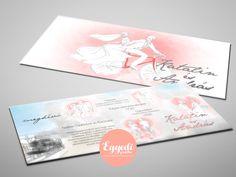 Különleges rajzzal illusztrált, vízfesték hatású esküvői meghívó | Unique hand drawn and watercolor styled wedding invitation card