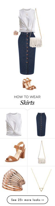 """""""Denim Skirts #fashion"""" by ashley-loves on Polyvore"""
