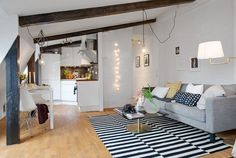 44 Sqm Open Space Apartment Showcasing Charming Details
